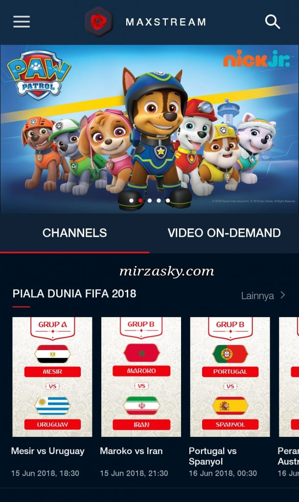 streaming piala dunia 2018