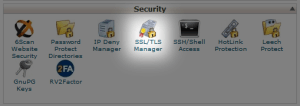 SSL manager cpanel
