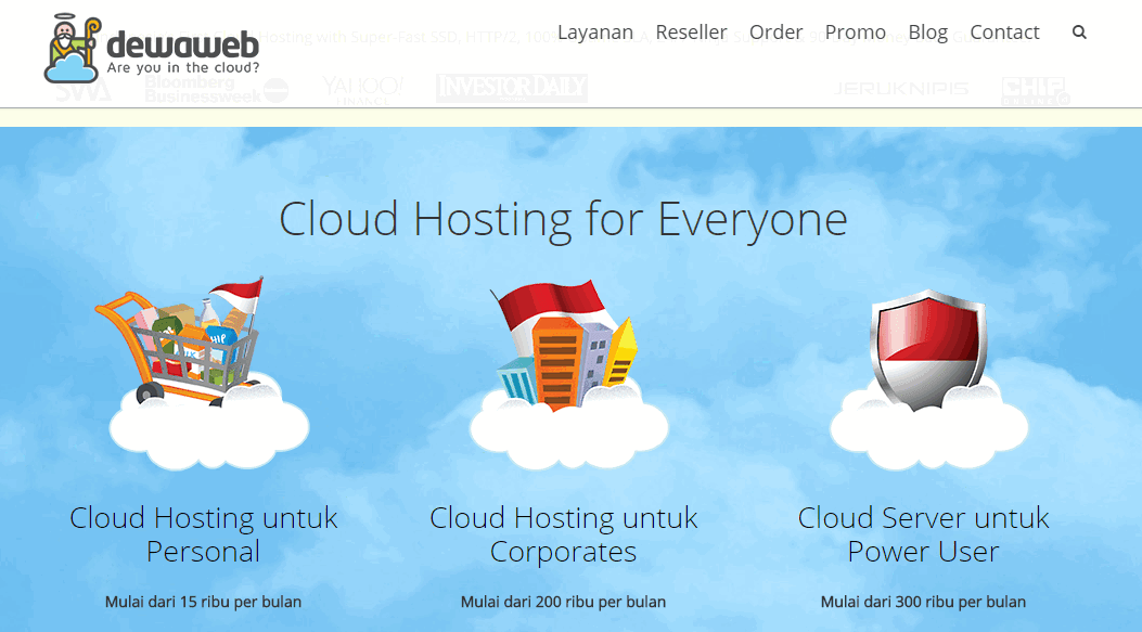 web hosting cloud murah